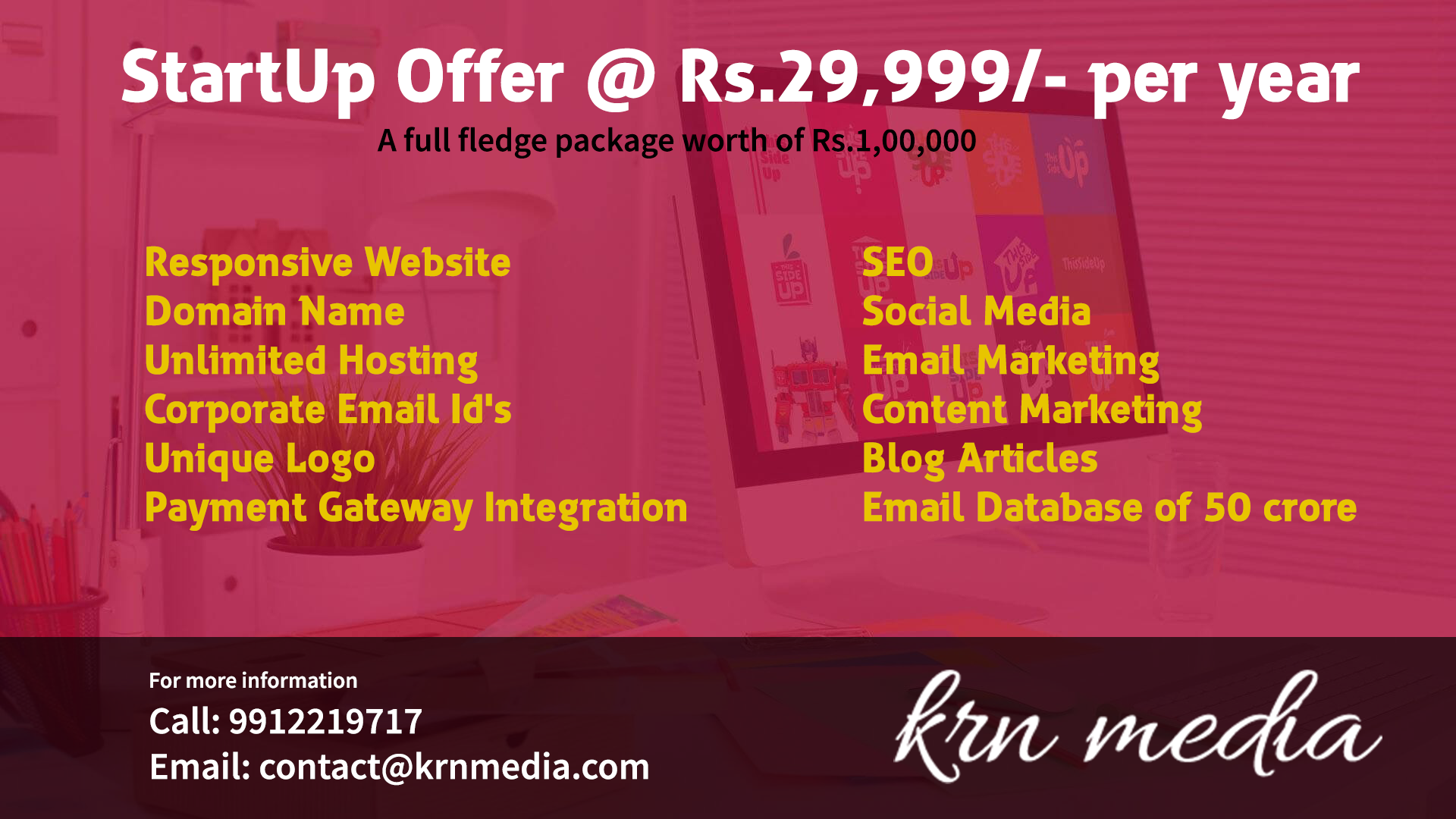 Website Designing offer for startups